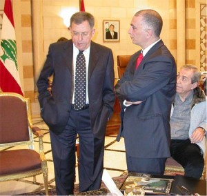 prime-minister-fouad-senioura-sanioura-samer-ramadan-nabil-el-jisr-lebanon-government-stereo-3d-book-paris-3-official-lebanon-gift